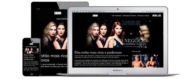 Hot site para o lançamento da 3ª temporada da série O Negócio da HBO, a série se destaca pelo uso de técnicas de marketing tiradas de cases empresariais.