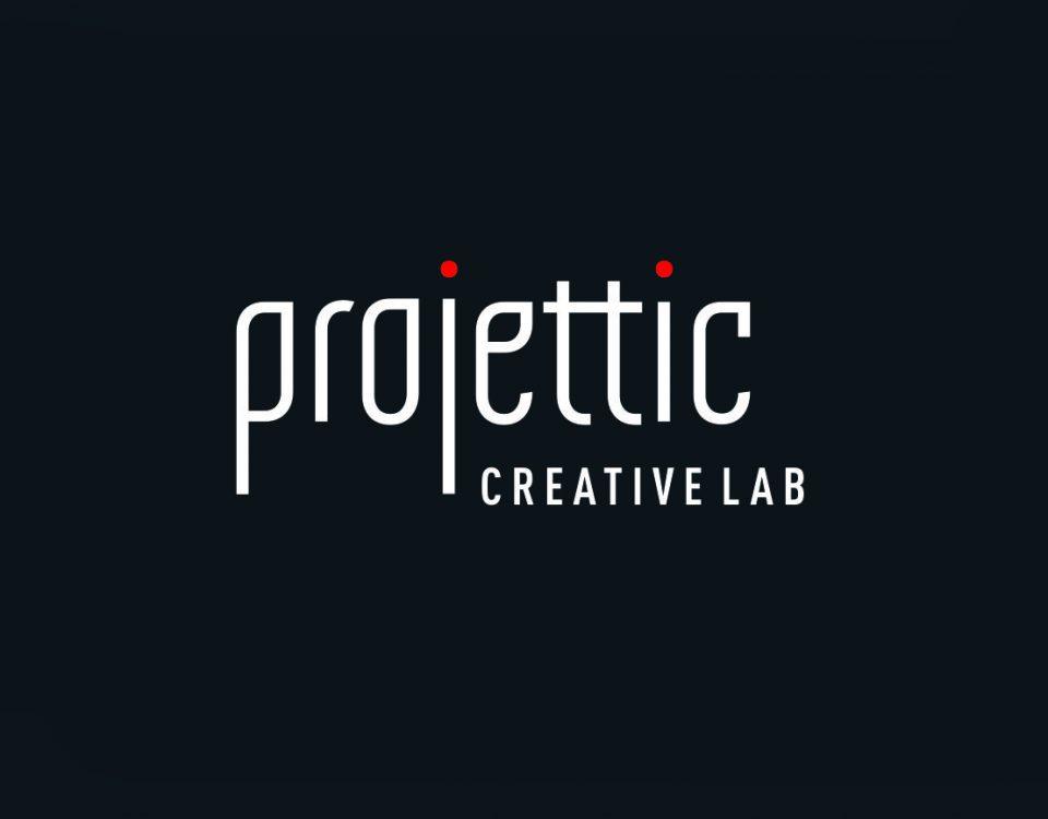 Logotipo Projettic Creative Lab criado por Pryzant Design