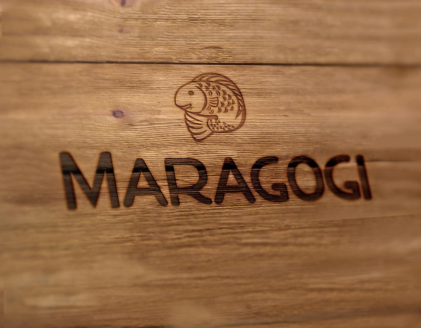 Logotipo Maragogi Restaurante criado por Pryzant Design